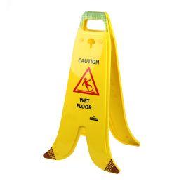 Panneau pliable en forme de banane pour sols mouillés