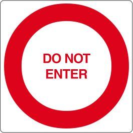 Pictogramme de plancher pour « Do Not enter »