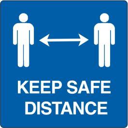 Pictogramme de plancher « Keep safe distance »