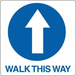 Pictogramme de plancher « Walk This Way »