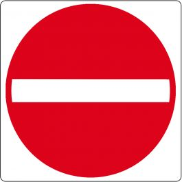 Pictogramme de plancher pour « Entrée interdite »