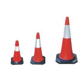 Cône de signalisation rouge/blanc