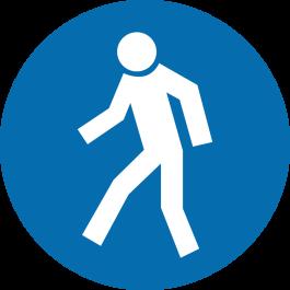 Pictogramme pour sol anti-dérapant : « Réservé aux piétons uniquement »