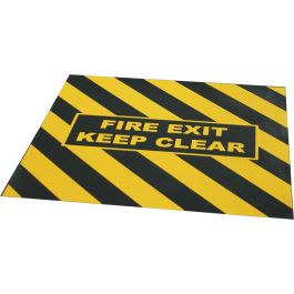 "Ruban de signalisation ""FIRE EXIT KEEP CLEAR"" pour issue de secours"