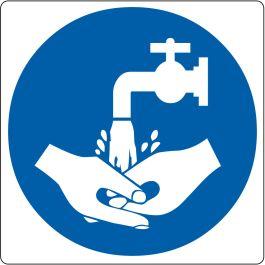 """Hand Wash Required"" sticker (Maxi-Loka Premium)"