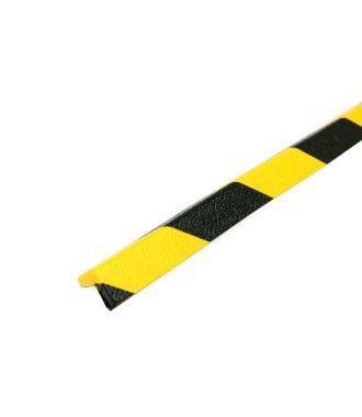 Les protections anti-chocs PRS pour angles, modèle 45 - jaunes/noires - 1 mètre