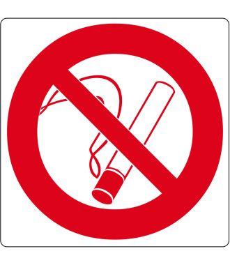 Pictogramme de plancher pour « Interdiction de fumer »