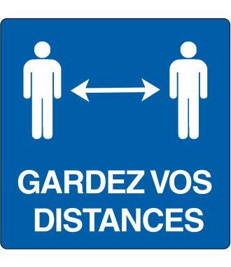 Pictogramme de plancher « Gardez vos distances »