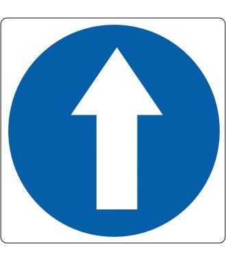 Pictogramme de plancher « Direction de marche obligatoire »