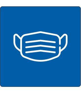 Pictogramme de plancher « Bouchon buccal obligatoire »