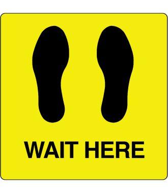 Pictogramme de plancher « Wait Here »