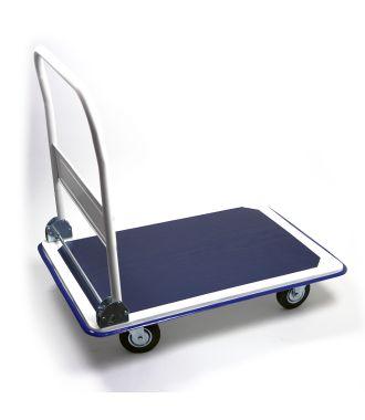 Chariot de manutention en acier avec timon repliable, capacité de charge 300 kg