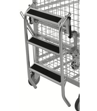 Escabeau pliable Kongamek pour chariot à plateaux KM9000