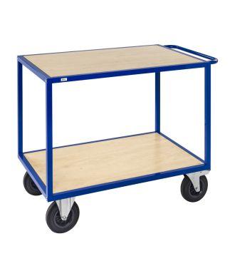 Chariot table Kongamek avec plateformes en bois, capacité de charge de 500 kg