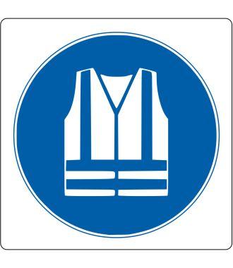 Pictogramme de plancher pour « Gilet de sécurité obligatoire »