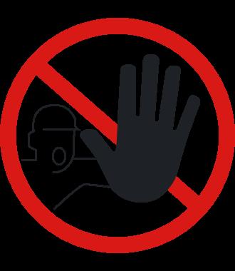 Pictogramme pour sol anti-dérapant : « Interdit aux personnes non autorisées »