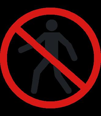 Pictogramme pour sol anti-dérapant : « Piétons uniquement »