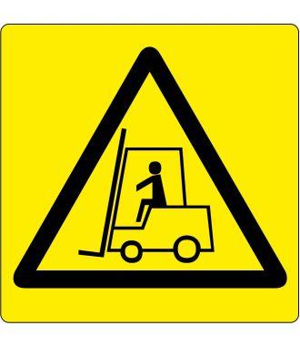 Pictogramme de plancher pour « Attention : Zone de manutention »