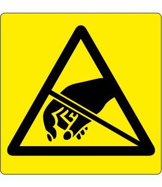 Pictogramme de plancher d'avertissement pour les objets sensibles aux DES