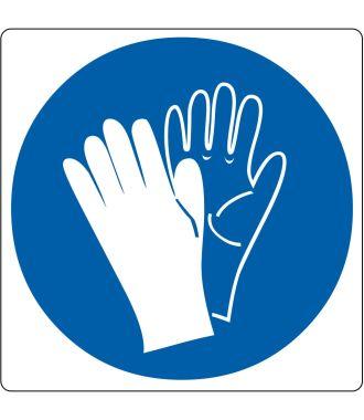 Pictogramme de plancher pour « Gants de sécurité requis »