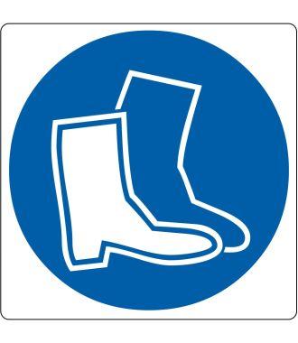 Pictogramme de plancher pour « Chaussures de sécurité requises »