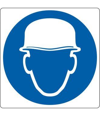 Pictogramme de plancher pour « Casque de sécurité obligatoire »