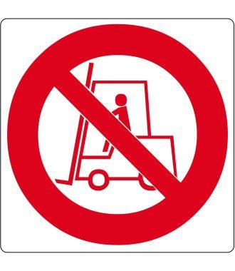Pictogramme de plancher pour « Pas de chariots élévateurs »