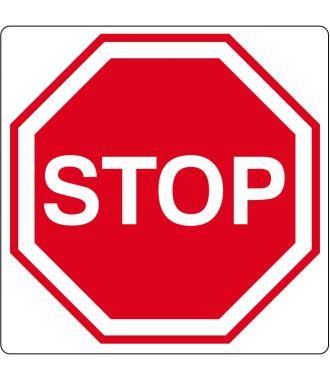 Pictogramme de plancher pour « Stop »