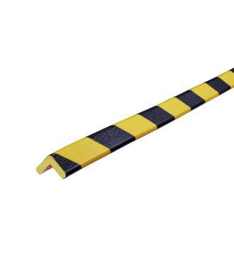 Profilé de protection d'angles Knuffi, type E - jaunes/noires - 5 mètre