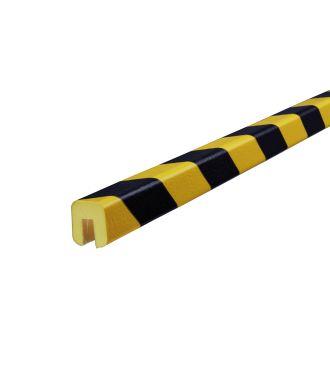 Profilé de protection d'arêtes Knuffi, type G - jaunes/noires - 5 mètre