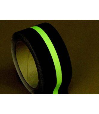 Ruban anti-dérapant (noir) avec bande photoluminescente