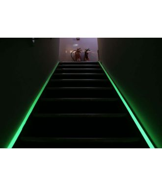 Ruban photoluminescent pour indiquer les voies d'évacuation
