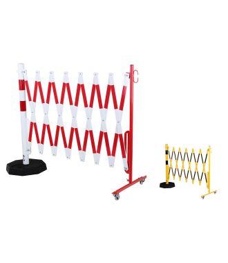 Barrière extensible avec poteau portable
