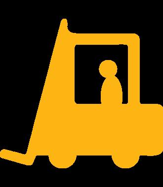 Pictogramme de plancher pour chariot élévateur, antidérapant