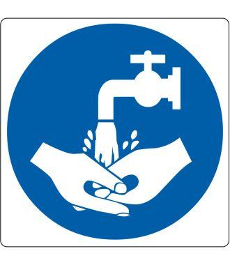 Pictogramme de plancher « Lavage à la main requis »