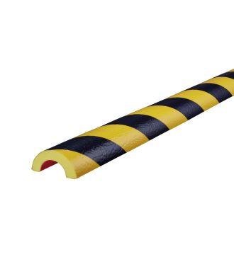 Profilé de protection pour tuyaux Knuffi, type R30 - jaunes/noires - 5 mètre