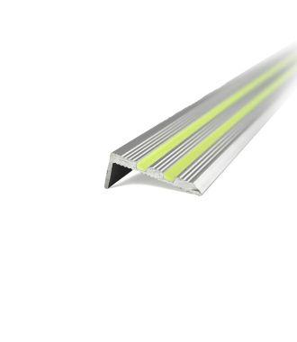 Profil de nez de marche en aluminium, luminescent