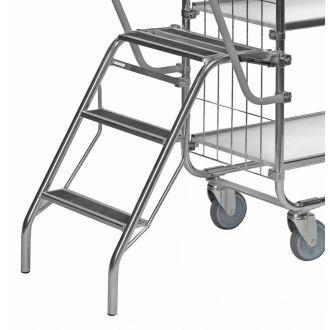 Escabeau pliable Kongamek pour chariot à plateaux KM8000