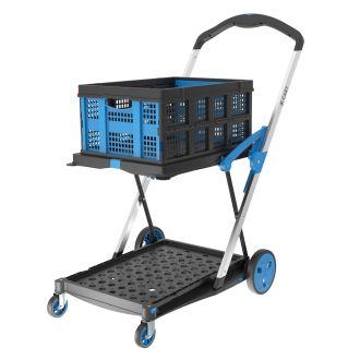 Chariot pliable X-Cart + 1 caisse pliante