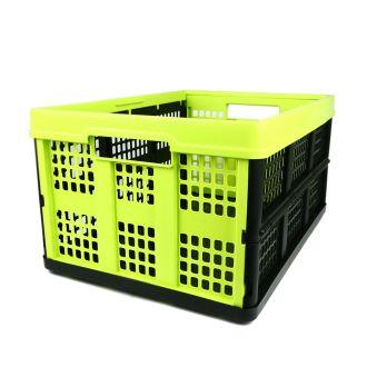 Caisse pliable - 46 litres - lime et noir