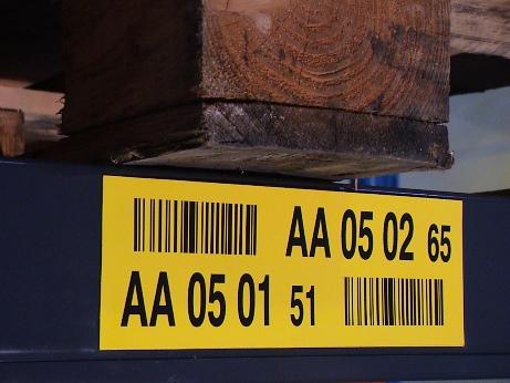 Chiffre de contrôle sur l'étiquette d'emplacement