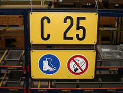 Panneaux signalétiques avec une icône